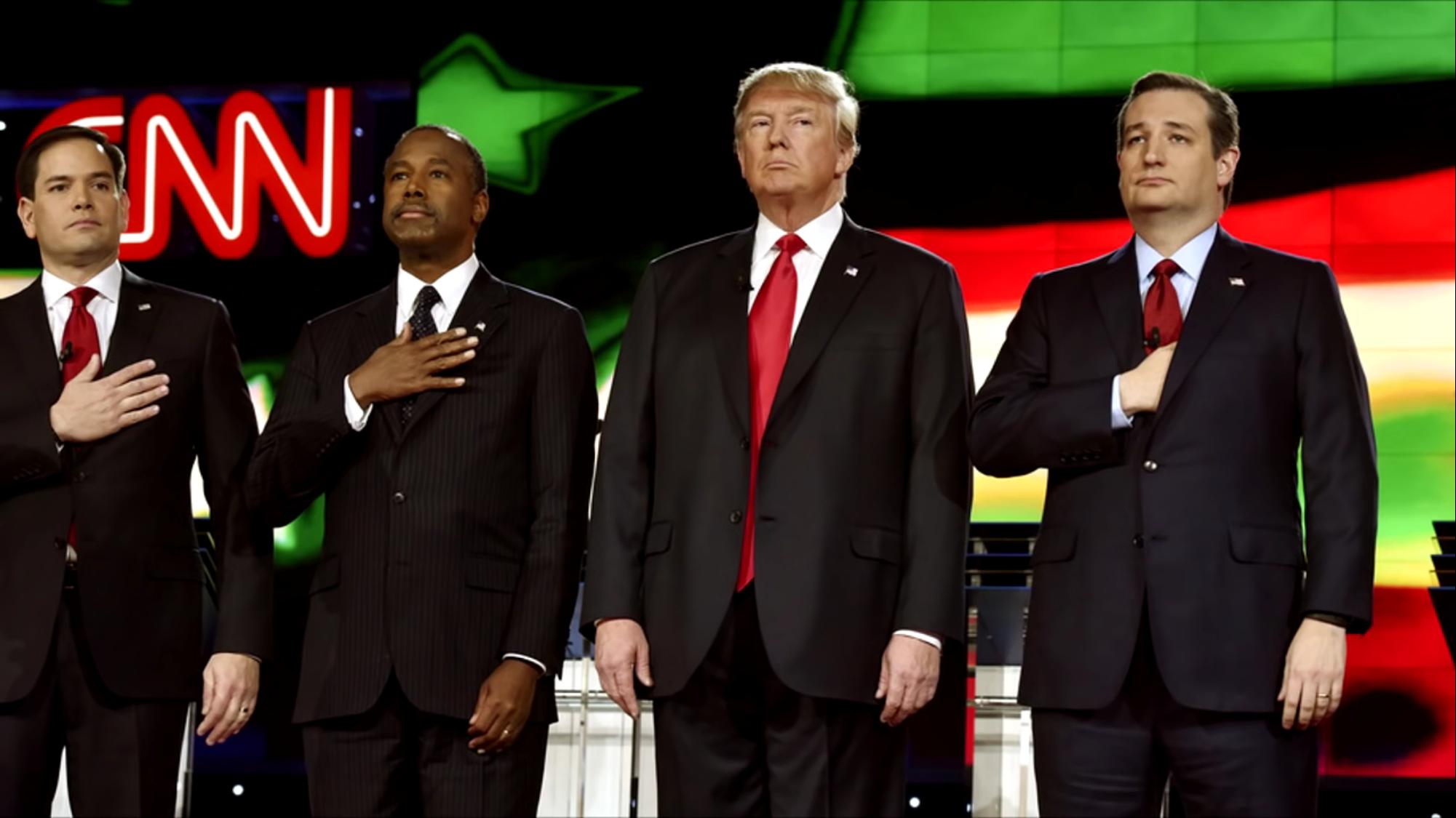 ritual masónico en debate presidencial del partido republicano, Presentation templates